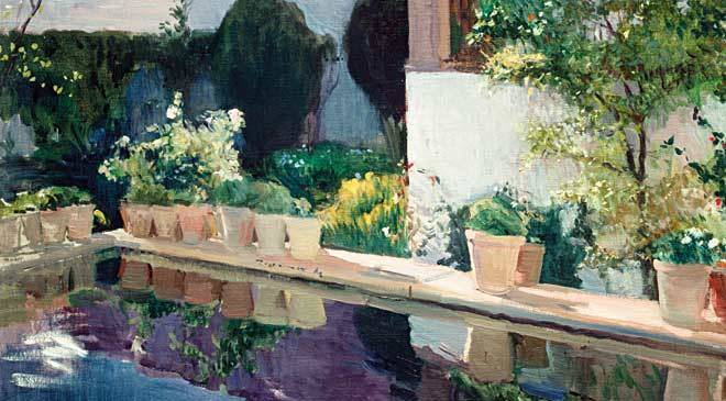 Palace Of Pond Royal Gardens In Seville Sorolla Museum