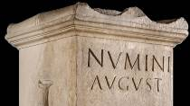 'Altar dedicated to the Numen Augusto'. Detail of the inscription. Archive of the Tarragona National Archaeological Museum/ R. Cornadó © MNAT - Museu Nacional Arqueològic de Tarragona