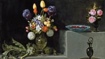 'Still life with artichokes, flowers and glass vessels' © Madrid, Museo Nacional del Prado