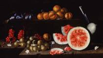 'Still life with watermelons, pumpkin and flowers'. Cerralbo Museum, Madrid © Ministerio de Cultura