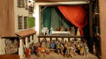 Model of the Príncipe Theatre in 1583. Performance of 'The Villain in his Corner'. National Theatre Museum, Almagro © Ministerio de Cultura