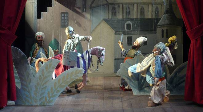 Model for 'Maese Pedro's Puppet Show'. National Theatre Museum, Almagro © Ministerio de Cultura