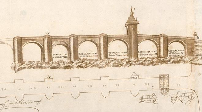 Elevation Et Vue En Plan : Vue en plan et élévation du grand pont sur le carrión
