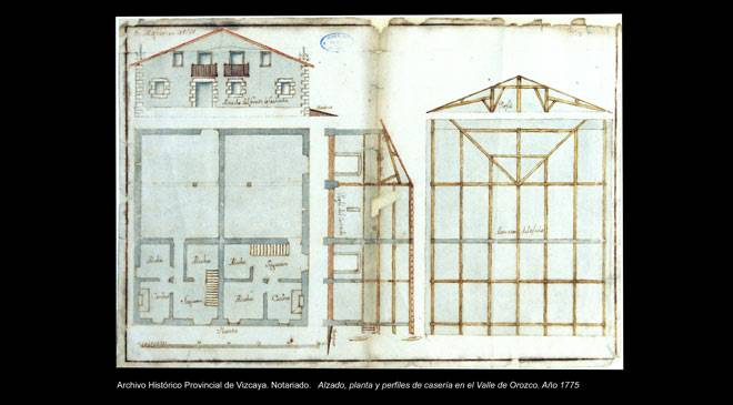 plans for basque farmstead provincial archive of vizcaya ministerio de cultura - Plan Maison Basque