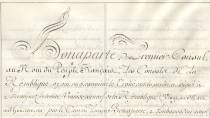Treaty of Aranjuez whereby Spain cedes Louisiana to France National Historical Archive. Madrid © Ministerio de Cultura
