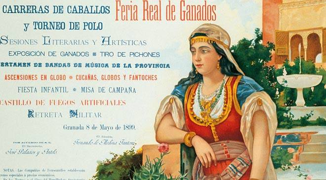 Corpus Christi festival poster from 1899. Los Tiros House-Museum - Museum of Popular Traditions and Art. Granada © Ministerio de Cultura