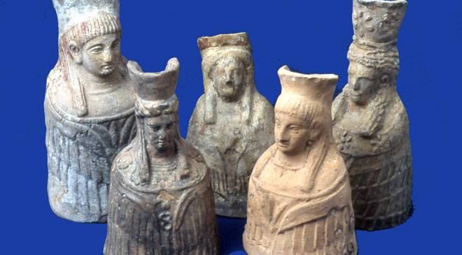 Set of figurines from Es Culleram. Archaeological Museum of Ibiza and Formentera © Ministerio de Cultura