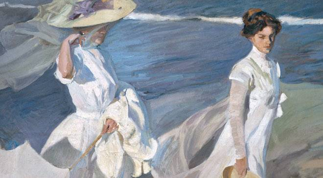 Strolling along the seashore sorolla museum madrid at - Maison au bord de la mer ...
