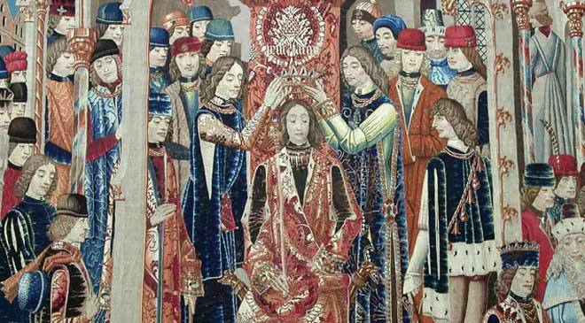 Tapestry of Tarquinius Priscus, Cathedral Museum, Zamora at Spain is culture.