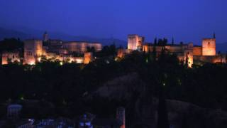 General view of the Alhambra at dusk. Granada © Turespaña