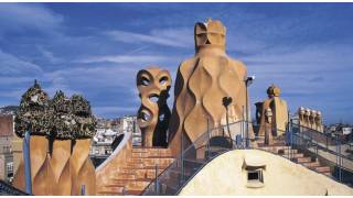 Rooftop with chimneys in the Casa Milá house. Barcelona © Turespaña