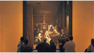 'Las Meninas' by Velázquez, contemplated by visitors to the Prado Museum. Madrid © Turespaña
