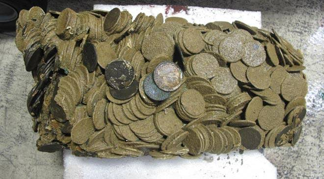 Coins from the treasure of La Mercedes © Ministerio de Cultura