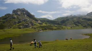 View of Enol lake in the Picos de Europa National Park. Asturias © Turespaña