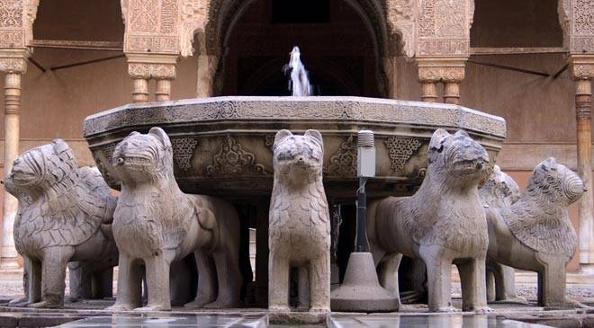 Courtyard of the Lions in the Alhambra, Granada