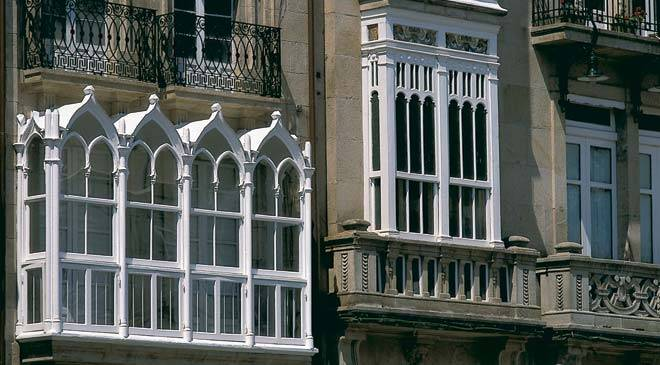 Detail of façades in Ourense © Turespaña
