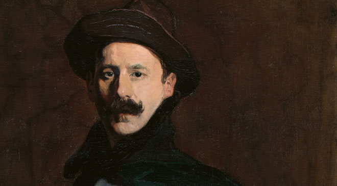 Ignacio Zuloaga, Self-portrait, 1908. Oil on canvas. 112 x 71 cm. On loan from The Hispanic Society of America, New York