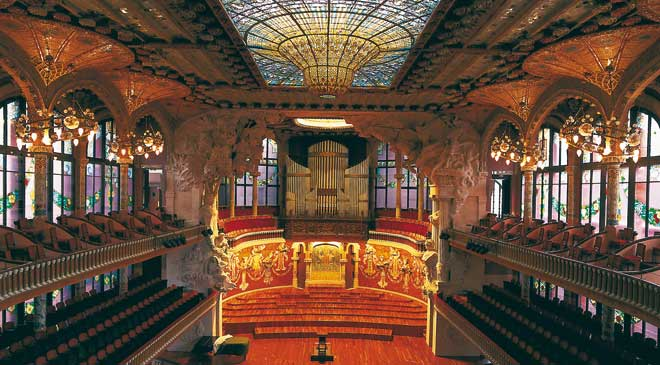 Interior view of the Palau de la Música Catalana, Barcelona © Turespaña