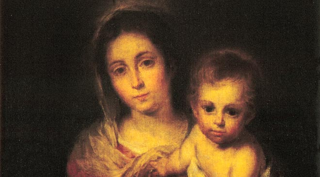 Bartolomé Esteban Murillo, 'Virgin with Child (Virgin of the Napkin)'. Oil on canvas, 67 x 72 cm. Seville Museum of Fine Arts © Ministerio de Educación, Cultura y Deporte.